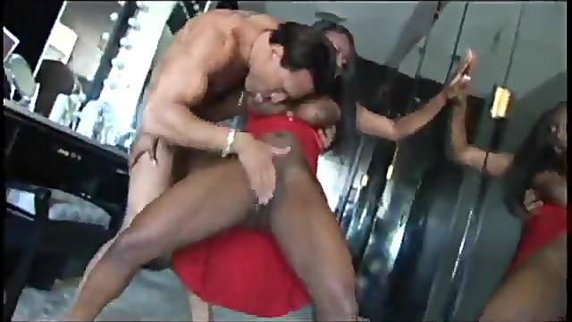Jada Fire's big titties shake as she slams herself down on his dick