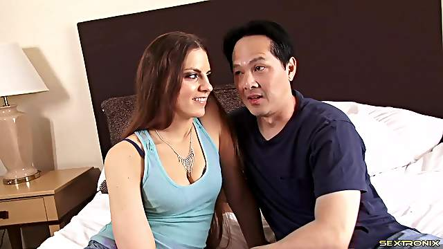 Real couple filmed as they have fantastic sex in bed