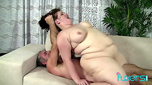BBW Cherie pink wet pussy spread for horny older guy