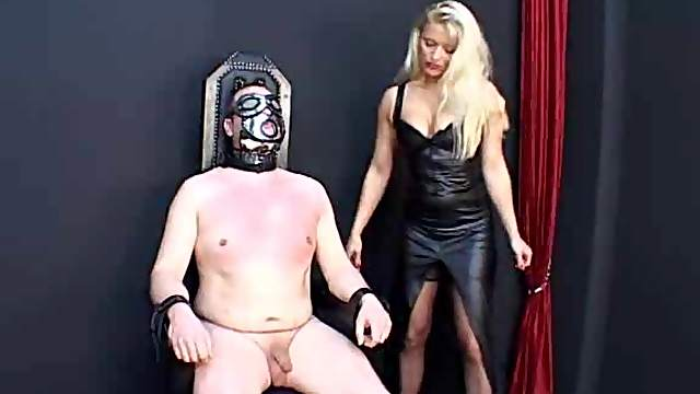 Blonde is really abusive in femdom scene