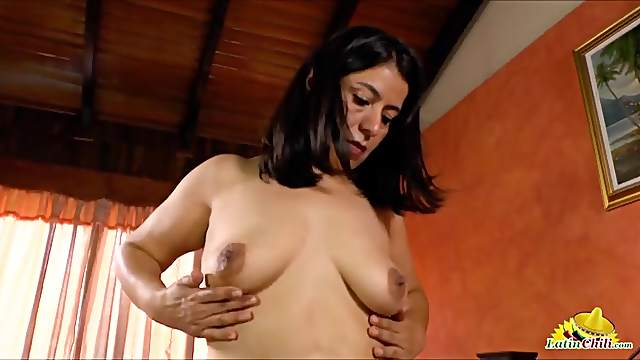 Mature Latina titties look lovely in close up