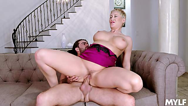 Banging and licking always make busty Ryan Keely feel better