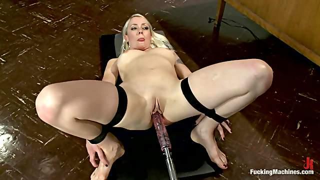 Tight bondage and fucking machine pumps for Lorelei Lee