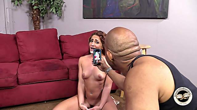 Savannah Fox gets a messy facial in a behind the scenes clip