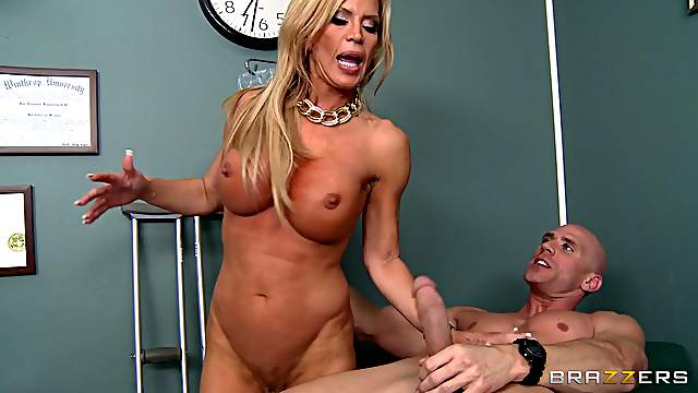 Great sex with the busty blonde milf doctor Amber Lynn