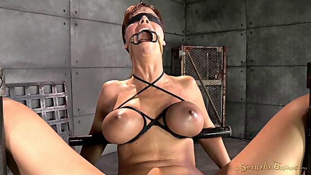 Big tits slave fingered superbly in BDSM porn shoot