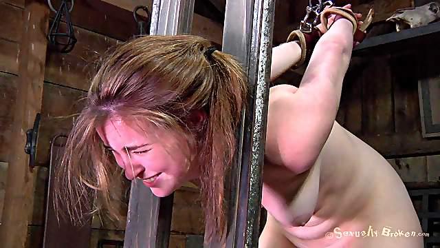 Tied slave having her anal fingered superbly in BDSM porn