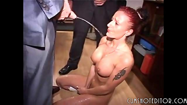 Submissive German Secretary Sucking Cocks And Piss