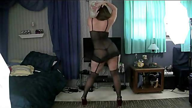 Super hot girl performing strip dance