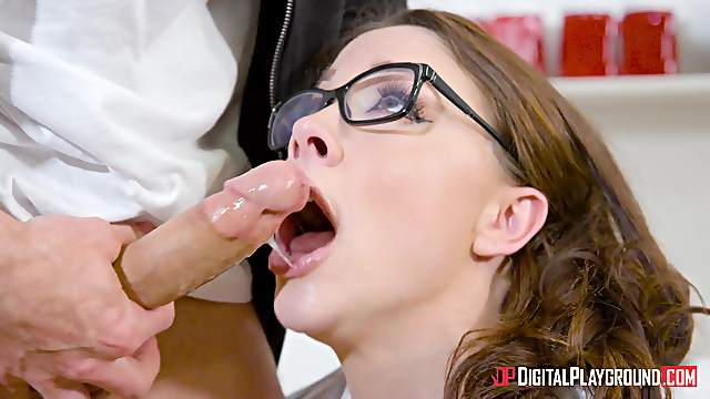 Geeky chick Chanel Preston craves a stallion's penis