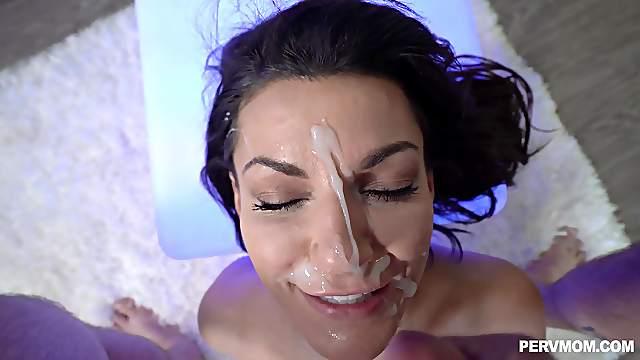 Homemade POV video of cock hungry wife Becky Bandini having sex