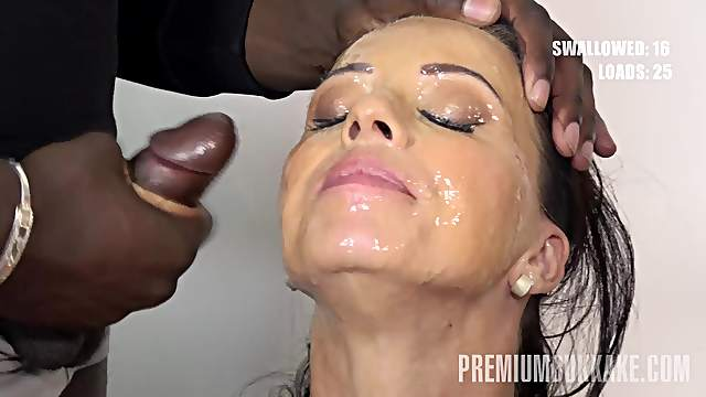 Before and after facial cumshot pics