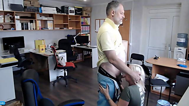 Blonde accountant best cocksucking in office