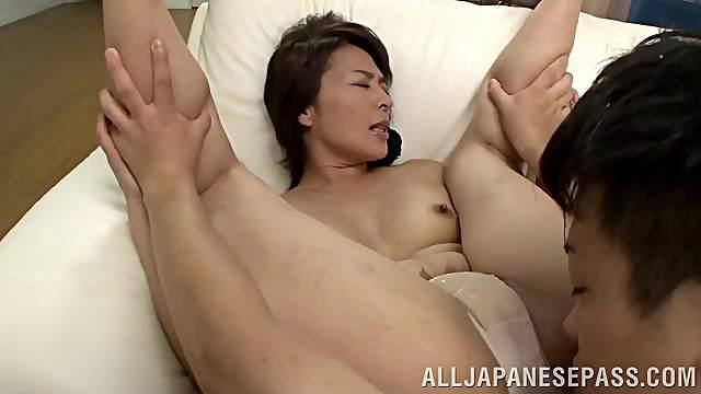 Amateur movie with mature Japanese Hisae Yabe having nice sex