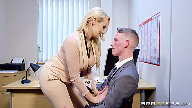 Angel Wicky attacks a co-worker for a plowing game
