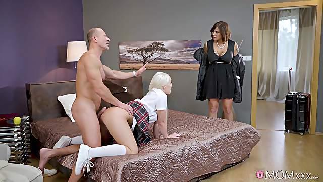 Wild FFM threesome with sexy Lovita Fate and Heidi Van Horny