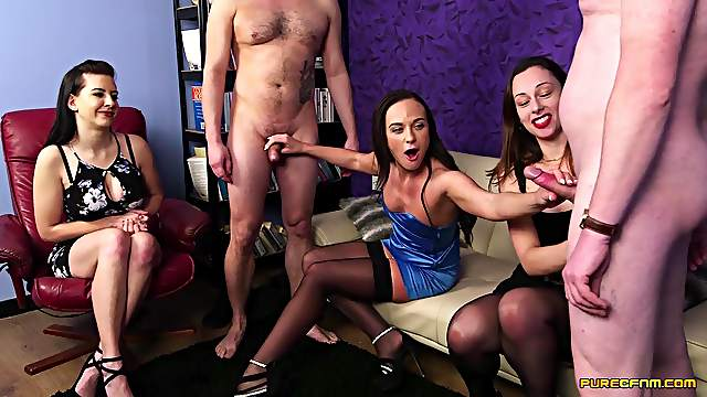 CFNM video of two guys and three horny cuties like Tindra Frost