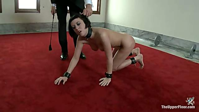 Cherry Torn enjoys being tormented and whipped in hot BDSM clip