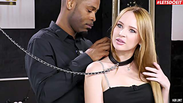 Kaisa Nord collared and ass fucked good by hung black gentleman