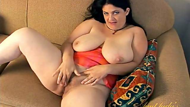 Huge titties and a hairy cunt make the BBW irresistible