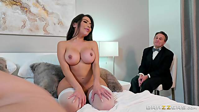 Big ass wife gets fucked in cuckold scenes and made to swallow