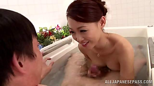 Seductive Asian Milf With Natural Tits In Hot Bathroom Action
