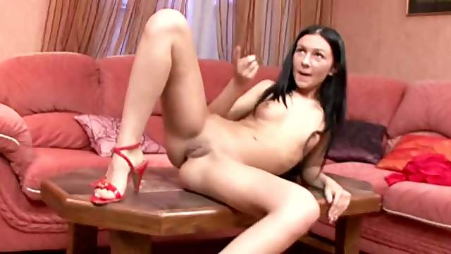 Brunette Anal Teen Gets Her Tight Pussy and Her Round Booty Fucked