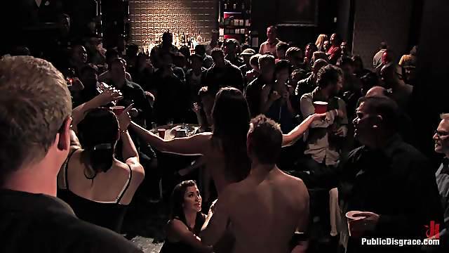 Kinky bondage scene with fucking slut