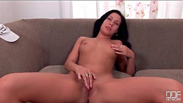 Nikita Black strips from jeans and teases cunt
