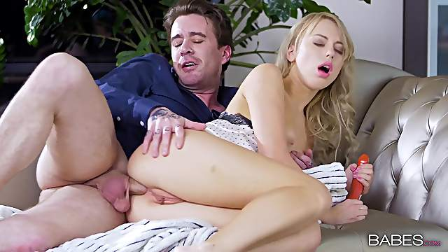 Cock devouring anal sex play with a premium blonde on fire