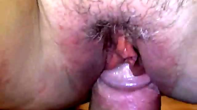 He fucks her and rubs her clit close up