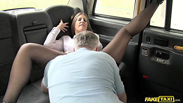 Fake taxi ass fuck XXX with a woman who's on her way to work
