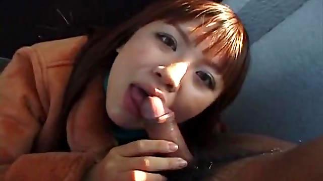 Busty asian in outdoor fuck