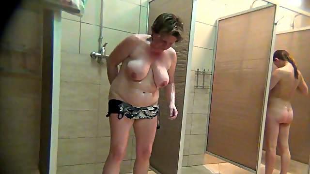 Hidden cam at the girls shower
